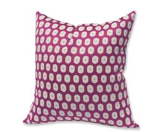 Etamine Paris Fuchsia Matte Satin Geometric Pillow Cover
