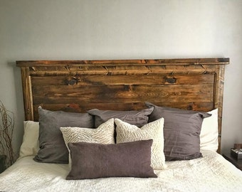 The Stonewall-(Size: King)- Rustic Headboard