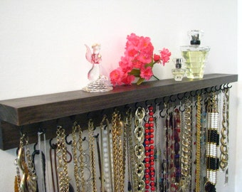 "Jewelry Display , Necklace Organizer, Necklace Hanger, Large 24 "" Holds 47 Necklaces"
