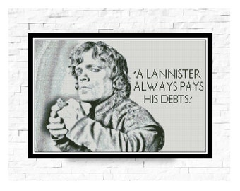 BOGO FREE! Tyrion Lannister Cross Stitch Pattern Game of Thrones Needlecraft Embroidery Counted pattern   PDF Instant Download,S030