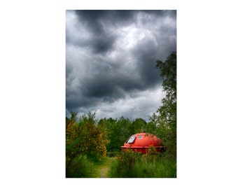 Canvas - 'UFO in the woods' - Photography art print