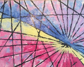 """Original abstract acrylic painting 24x48  """"Joy Comes in the Morning"""""""