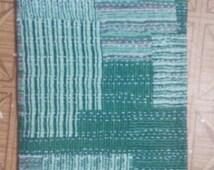 indian handmade kantha quilt queen size bedspread throw cotton blanket
