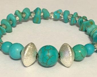 Aqua Beaded Bracelet