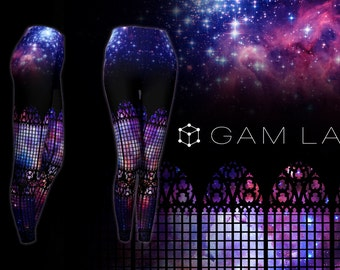 Galaxy Gothic - Exclusive Printed Leggings by GamLab