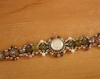 Pearl and Sterling Silver Bracelet by Isha Elafi