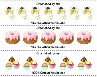 Sweeties Washcloth/Dishcloth Labels-PDF/JPG only