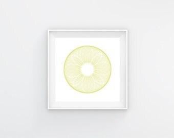 Spirograph yellow