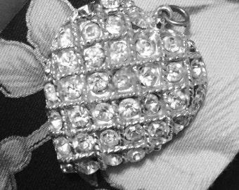 Vintage Heart Pendant 1950's Era