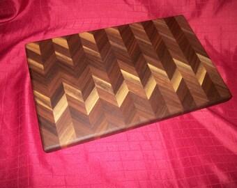 Solid Walnut Chevron Cutting Board