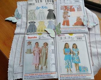 Children's Dress, Hats, Pants, Tops and Apron Patterns x 4