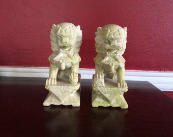 Chinese Soapstone Foo Dogs