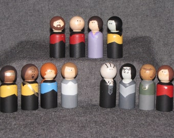 Star Trek Themed Wood Peg Dolls