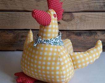 Handmade chicken decoration