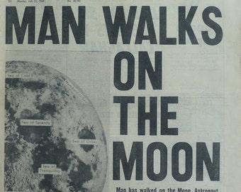 Kühlschrankmagnet Refrigerator magnet Moon Moonwalk Armstrong