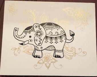 Mehndi little elephant