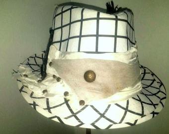 Black and white hat summer festival