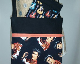 Handmade by CMarie Purse with Elvis Presley Cotton Fabric