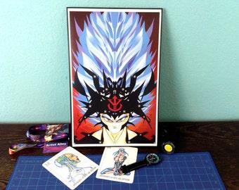 11x17 Dragon Ball Print, Goku, Vegeta