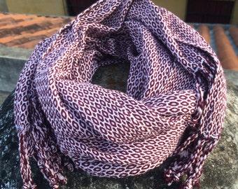 Handwoven 100% Organic Cotton Scarf/Wrap