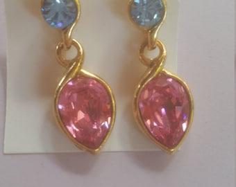 Vintage Crystal Hanging Earrings