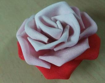 Rose kanzashi hair clip