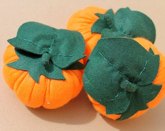 Pumpkin in felt for the dinette