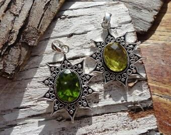"""""""ancient Sun collection"""" pendant peridot or lemon quartz"""
