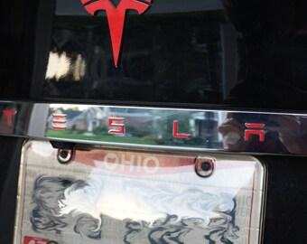 Tesla Model S Tailgate Rear Applique T-E-S-L-A Decal