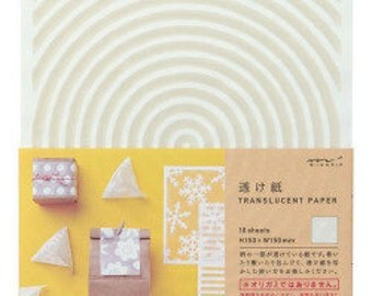 Translucent paper, Scrapbook paper pack, Gift Wrapping, Paper folding, Paper sheets, Midori Japan