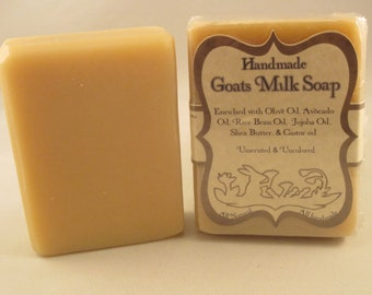 "Handmade ""Goats Milk"" Handcrafted Natural Artisan Soap"