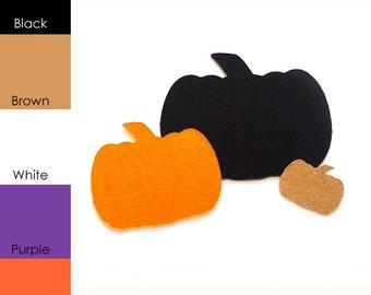 25 pack - Paper Shape Pumpkins, Halloween Paper Pumpkins, Paper Pumpkin Shapes, Pumpkin Shape Tags