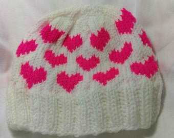 Knit Heart Hat