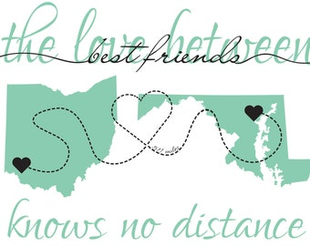 PRINTABLE Long Distance Relationship Signs - Customizable