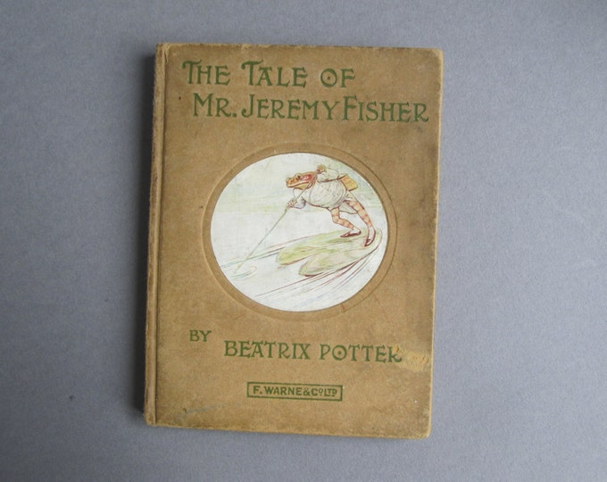 Beatrix Potter - The tale of Mr Jeremy Fisher - Book 7 - Childrens bedtime story, short animal stories, small hardcover book, Kids' library