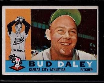Vintage 1960 Topps #8 Bud Daley VG/VGEX