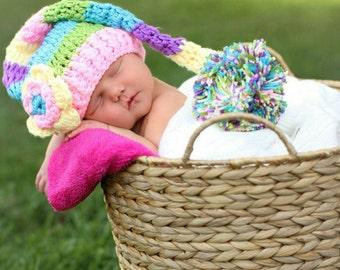 Newborn flower elf hat. Photo prop