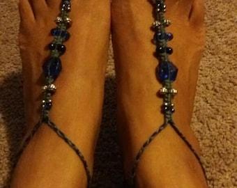 Am I Blue Barefoot Sandals