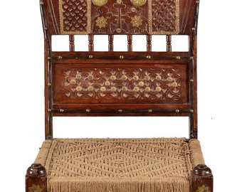Teak Indian low chair