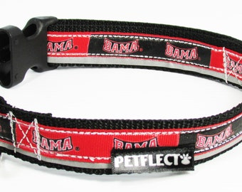 University of Alabama Reflective Dog Collar