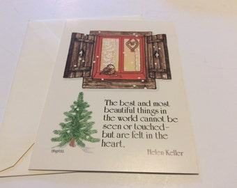 Vintage Christmas Cards With Helen Keller Quote
