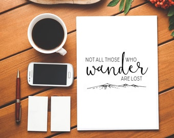 Physical Print: Not All Those Who Wander Are Lost