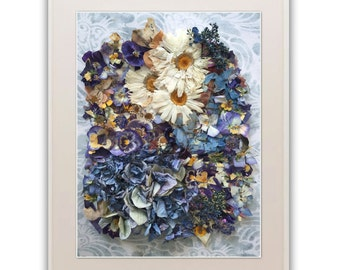 Giclée Print from Photograph of Handcrafted Flower Collage Art Piece