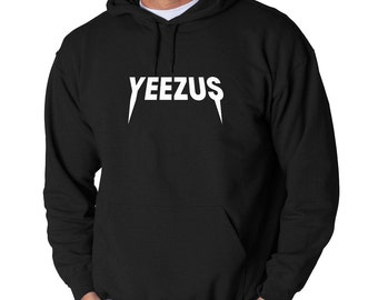Yeezus Hoodie Kanye West Hip Hop Classic Yeezy New Sweatshirt Adult Pullover Hooded Chicago Rapper K. West Yeezys Tour White Logo Unisex