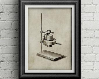 Chemestry Illustration 004 - science equipment - Alchemy illustration - vintage science print - chemestry poster