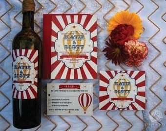 Vintage Circus Carnival Wedding Invitation