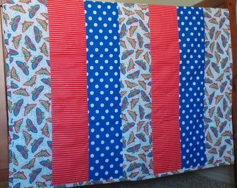 Butterfly Strip Baby Quilt