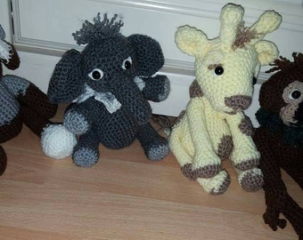 Personalised crochet small stuffed animals
