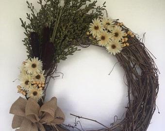 Fall Cattail Wreath