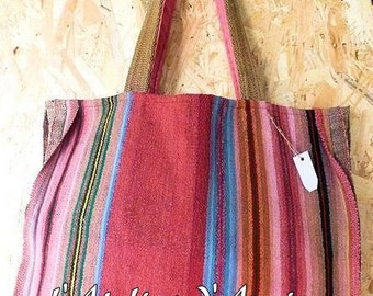 SAC CABAS antic poncho